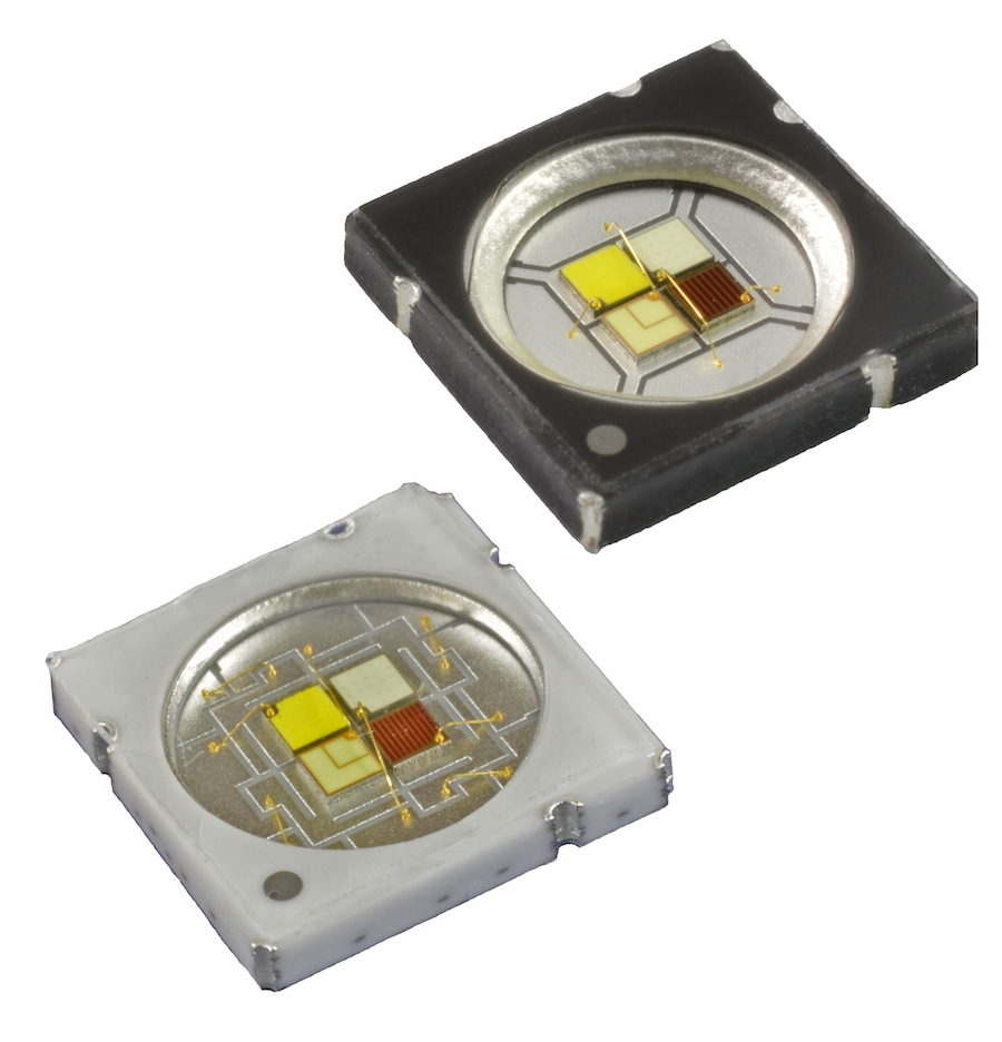 RGBW LED emitters deliver 30% more output