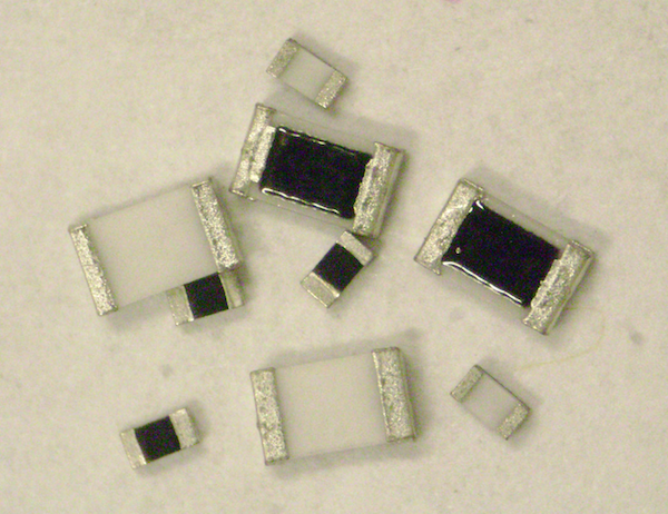 Economical chip resistors offer values up to 10G Ohms