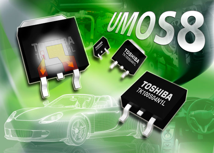 Toshiba's latest automotive MOSFETs lower RDS(ON) by up to 22%