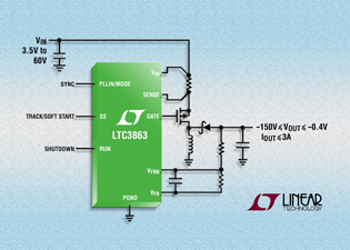 Single-inductor inverting DC/DC controller simplifies design