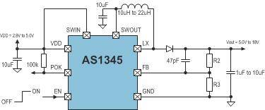 Boost regulator supports wide range of display sizes in mobile end-products