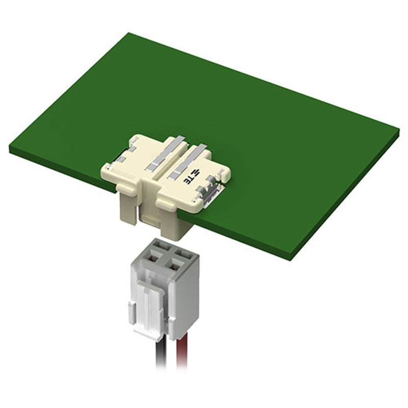 Inverted thru-board SMT connectors reduce wire management issues
