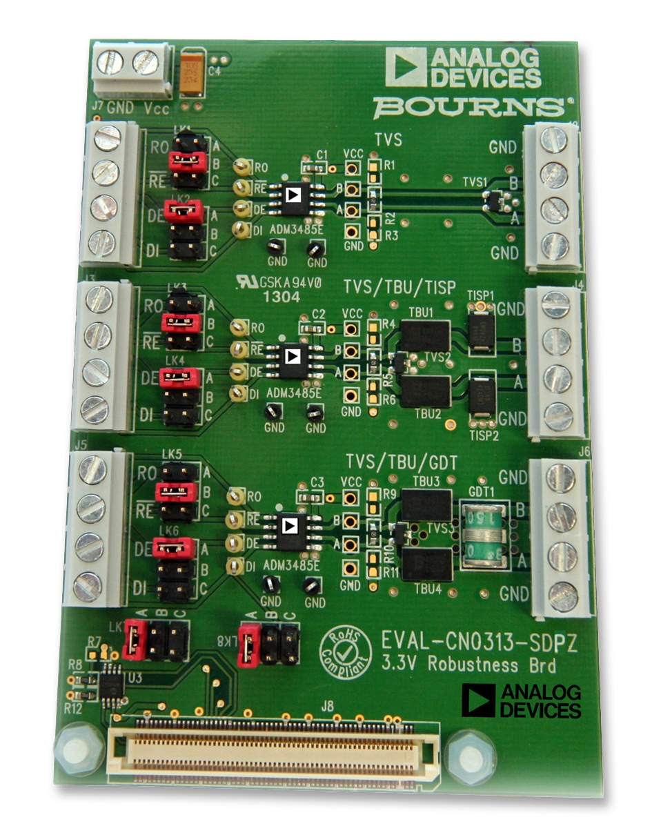 Evaluation board provides electromagnetic compatibility protection