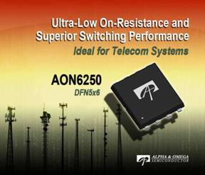 Power MOSFET delivers lowest on-resistance in a DFN5x6 package
