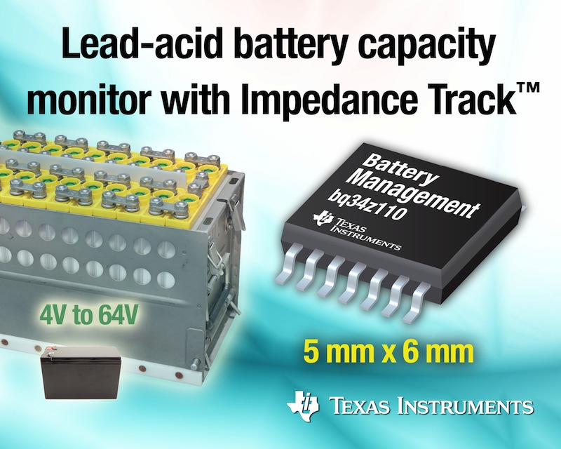 Breakthrough tech accurately monitors state-of-health, state-of-charge of lead-acid batteries