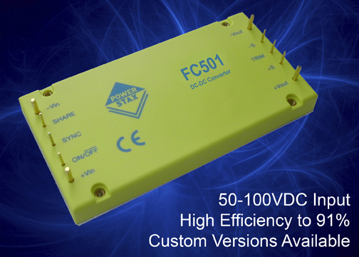 High-density DC/DC converter modules target fuel-cell driven applications