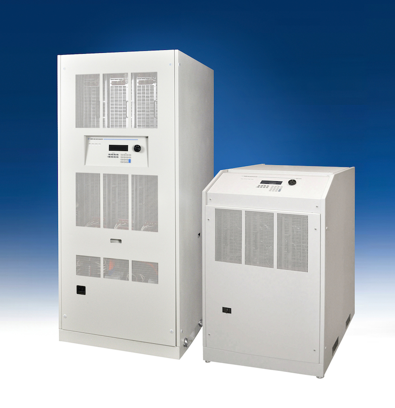 System provides power from 30 to 180 kVA with four options for voltage and frequency conversion test