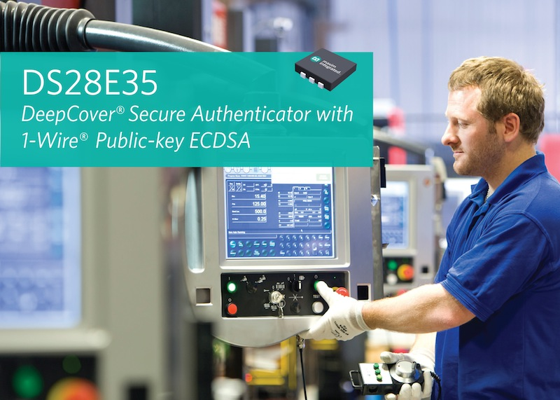 Integrated secure authenticator simplifies interconnect complexity in medical and industrial apps