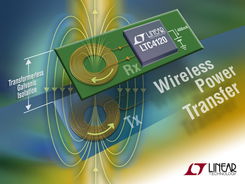 Wireless 400mA power receiver simplifies contactless battery charging over a 1.2cm air gap