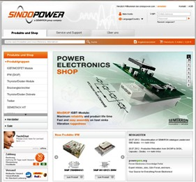 Power electronics online shop SindoPower launches redesigned website