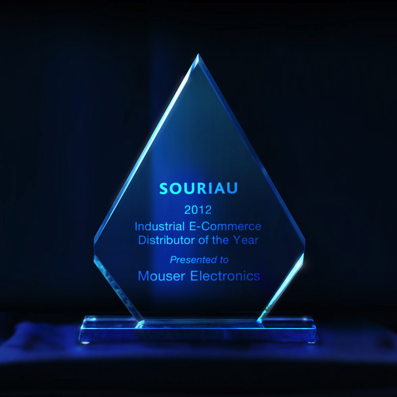 Mouser awarded e-commerce distributor of the year by Souriau