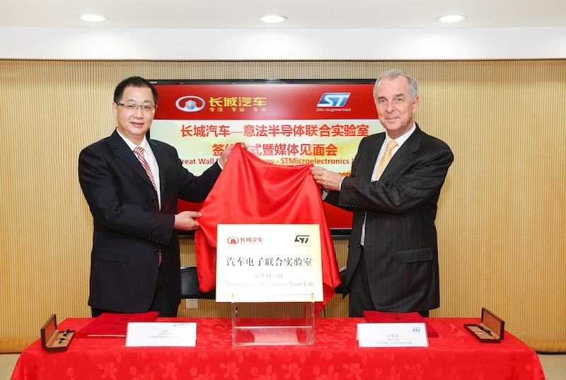 STMicro and Great Wall Motor partnership to drive next-generation automotive development