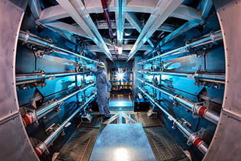 Lawrence Livermore NIF laser fusion experiment delivers record energy output
