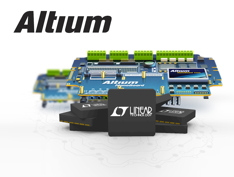 PCB design libraries for Linear Technology carry Altium 3D CAD data, provide supplier connection