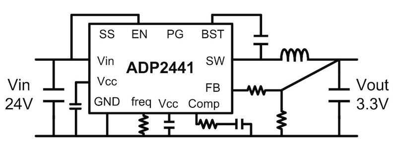 Elegant step-down conversion for 24V industrial applications