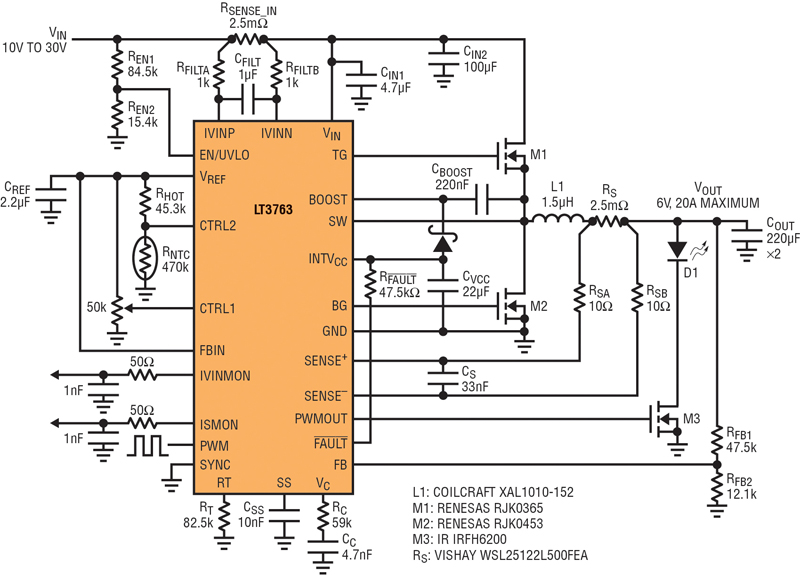 High-power controller drives LEDs, regulates solar cells, charges batteries, and other demanding consumer apps