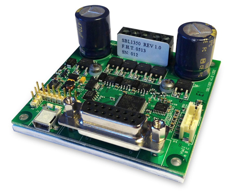 Programmable 30A brushless DC motor controller serves robotics and automation apps