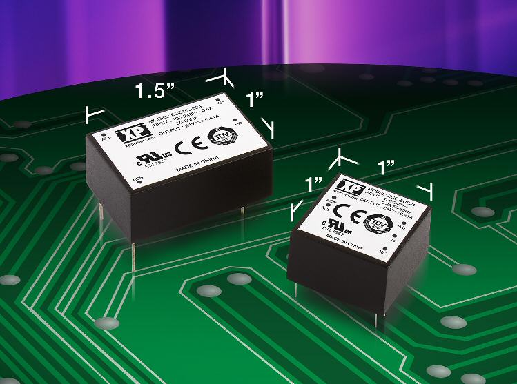 XP Power offers ultra-small, efficient, 5- and 10-W AC-DC power supplies
