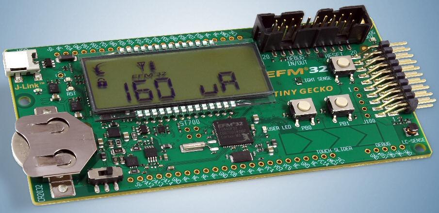 Energy Micro's EFM32 Gecko microcontrollers deliver high performance with low energy consumption