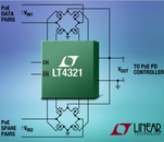 Ideal diode bridge controller minimizes power loss & heat in PoE-driven devices