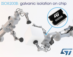 Isolated high-side switch from ST combines galvanically-isolated power and logic circuitry in the same package