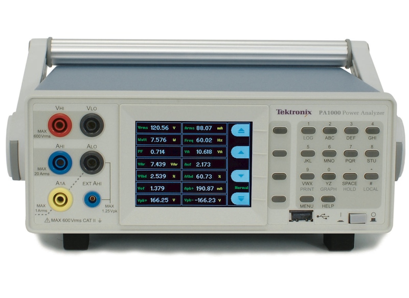 Tektronix unveils precision single-phase power analyzer series