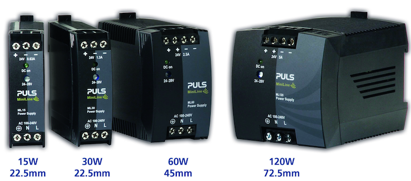 MiniLine DIN-Rail-Power Supplies from PULS cost less than predecessors