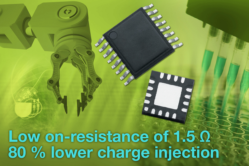 Precision �15 V quad SPST CMOS analog switches offer an on-resistance of 1.5 Ω