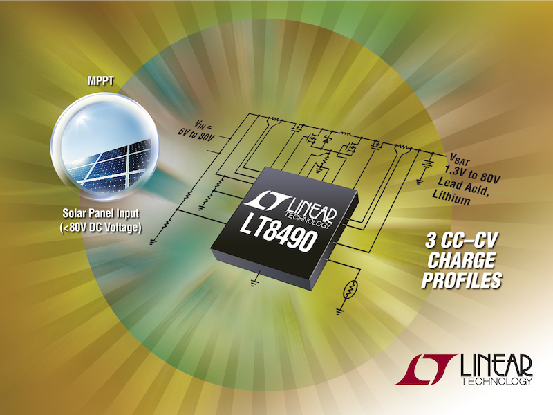 Buck-boost 80V batter-charging controller offers auto MPPT and temperature compensation