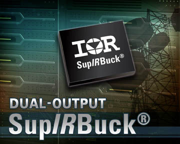 IR's SupIRBuck integrated dual-output voltage regulators suit space-constrained applications