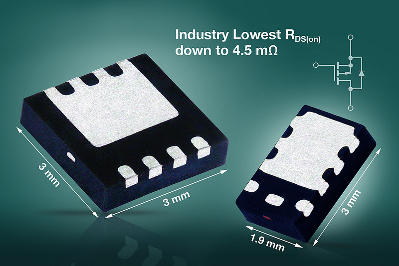 Vishay Intertechnology's P-Channel Gen III MOSFETs Offer industry-low RDS(on)