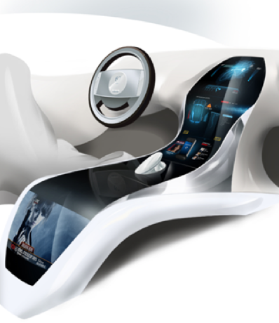 Atmel showcases futuristic curved touch-centric automotive concept at CES 2014