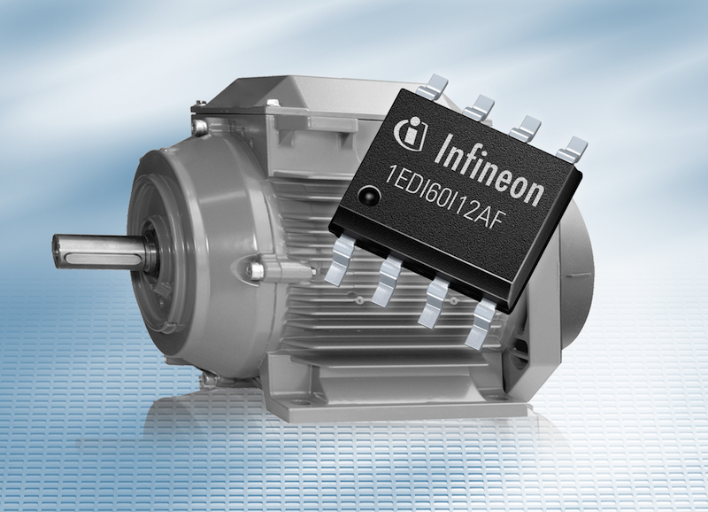 Infineon's compact single-channel gate driver serves applications with isolation voltages of up to 1200 volts.