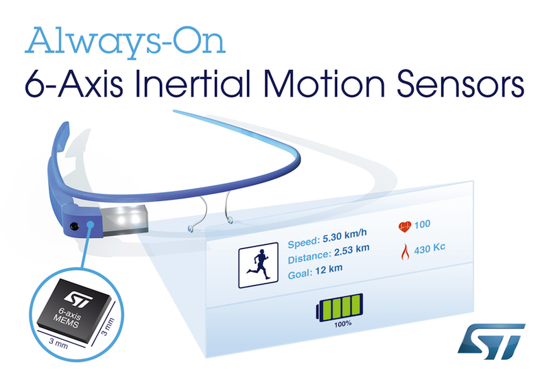 Always-on 6-Axis inertial-motion sensors claim lowest power