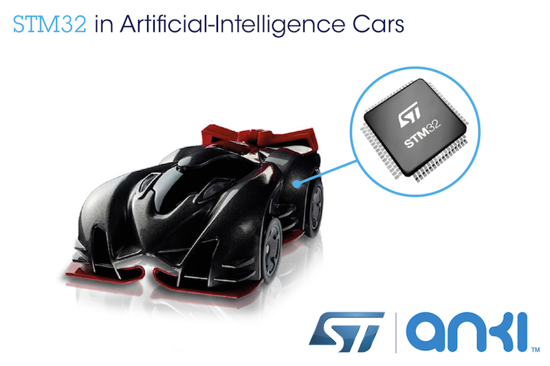 STMicro microcontroller powers miniature artificial-intelligence race cars from Anki Drive