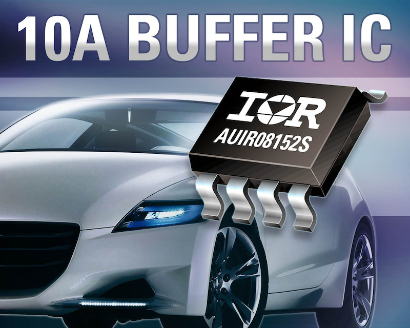 IR's tiny 10A gate drive IC helps shrink automotive systems