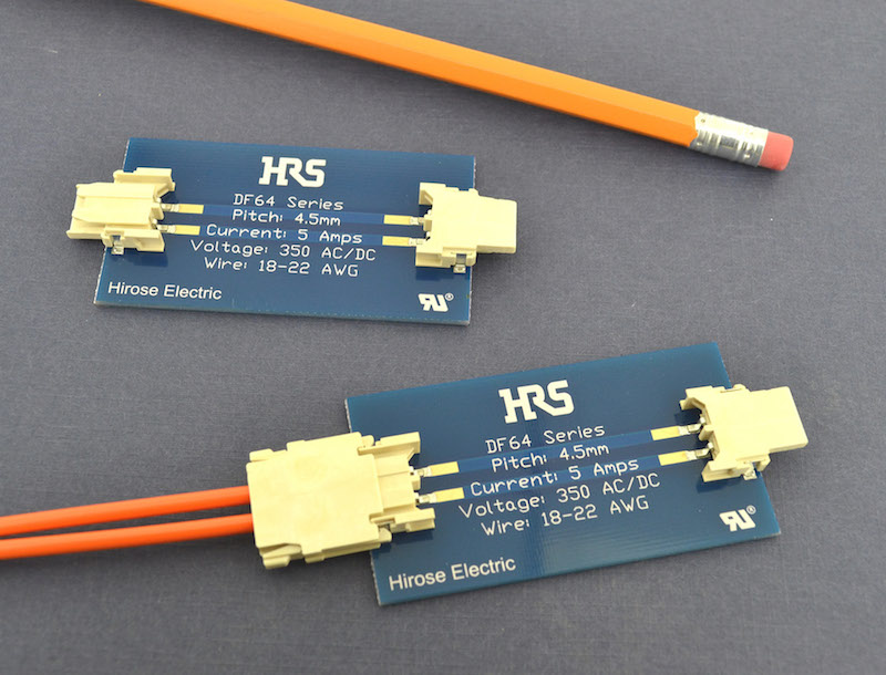 Hirose's low-profile horizontal connector handles high currents