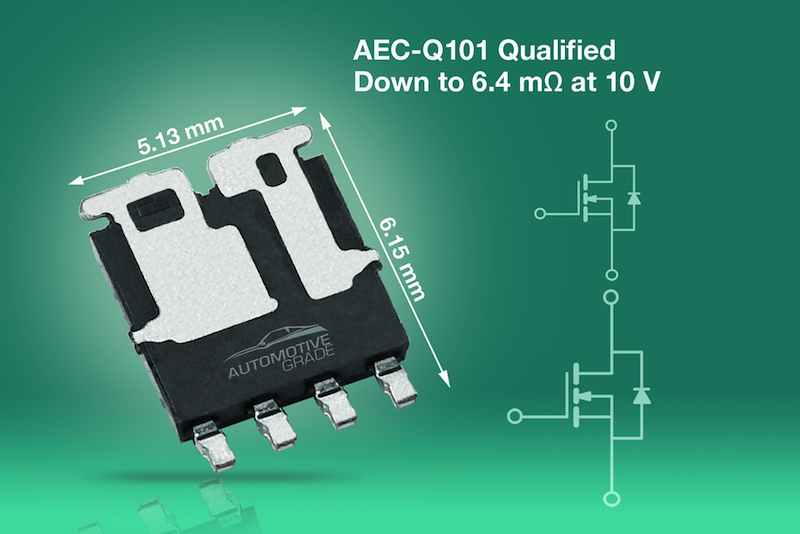 Vishay releases two AEC-Q101-qualified dual n-channel 40V TrenchFET power MOSFETs in an asymmetric PowerPAK SO-8L package