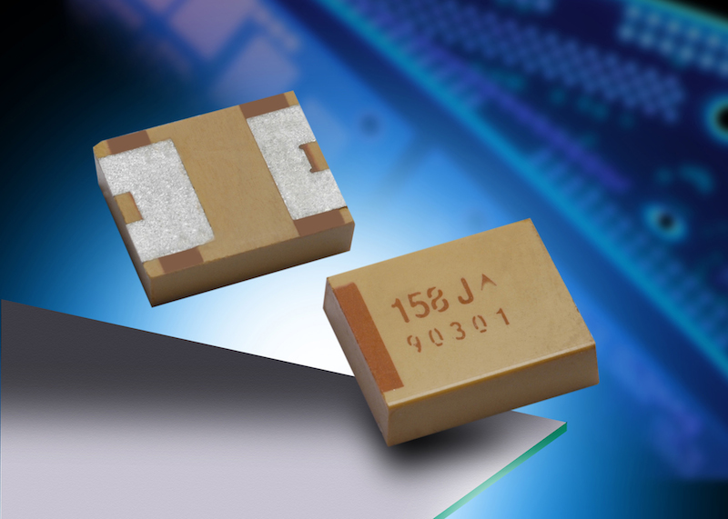 AVX's polymer tantalum chip capacitors with undertab terminations target high-energy applications