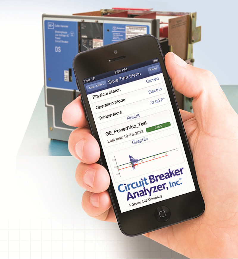 Smart-phone-based Circuit Breaker Analyzer uses vibration analysis