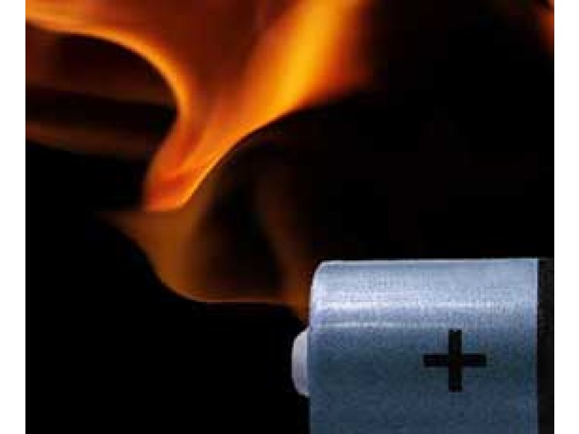 Researchers build nonflammable lithium ion battery