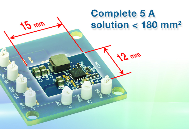 Vishay's 5A synchronous buck regulator operates to 4 MHz at up to 95% efficiency