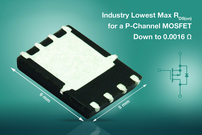 Vishay's P-Channel Gen III MOSFET offers RDS(on) Down to 0.0016 Ω at -10V in a PowerPA SO-8 Package