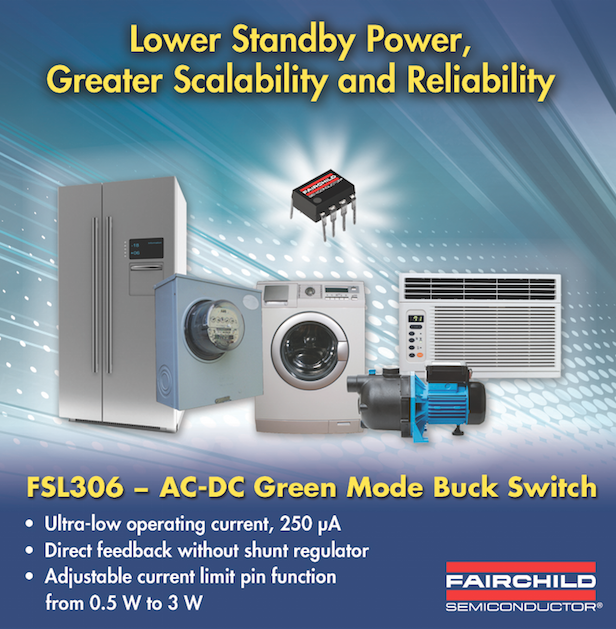 Fairchild's 650V green-mode buck switches offer high efficiency and design scalability