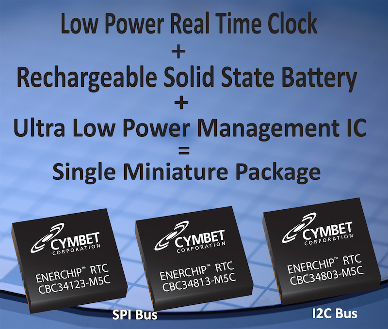 Cymbet launches ultra-low power EnerChip RTC with integrated battery