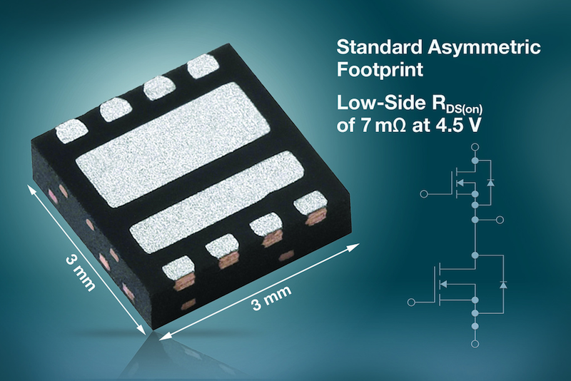 Vishay launches asymmetric dual TrenchFET Gen IV MOSFET in compact PowerPAIR package
