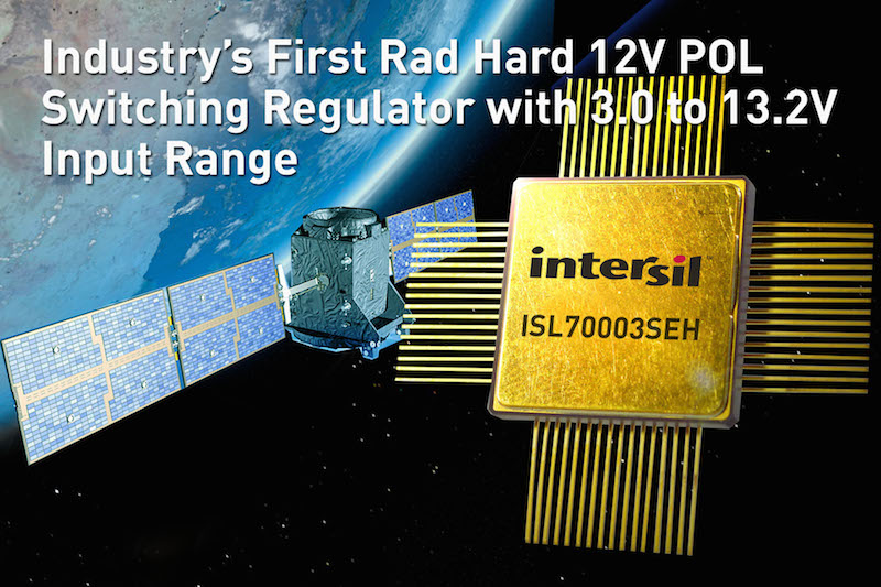 Intersil claims first rad-hard 12V-in PoL switching regulator
