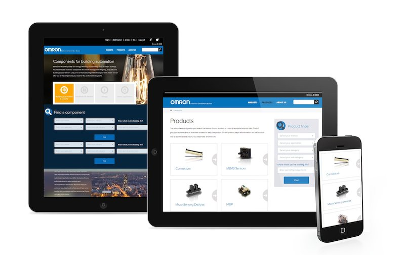 Omron goes mobile with new European website