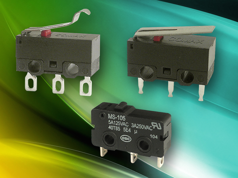 C&K offers tamper-proof subminiature snap-acting switches