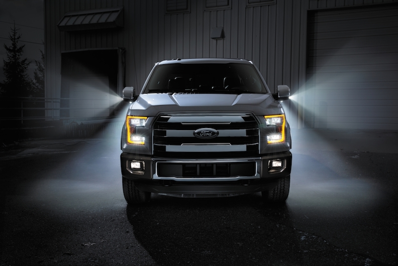 The 2015 Ford F-150 to be the first pickup with complete LED forward lighting